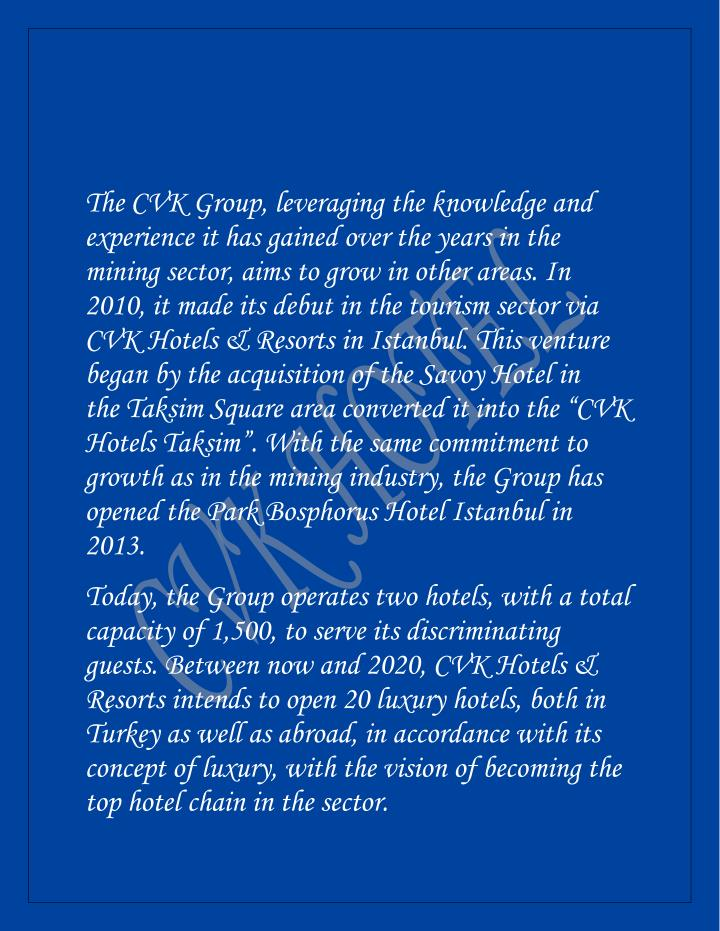 The CVK Group, leveraging the knowledge and