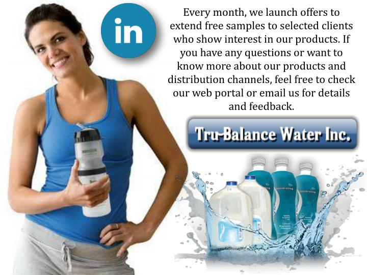 Every month, we launch offers to