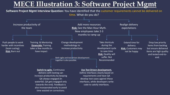 MECE Illustration 3: Software Project