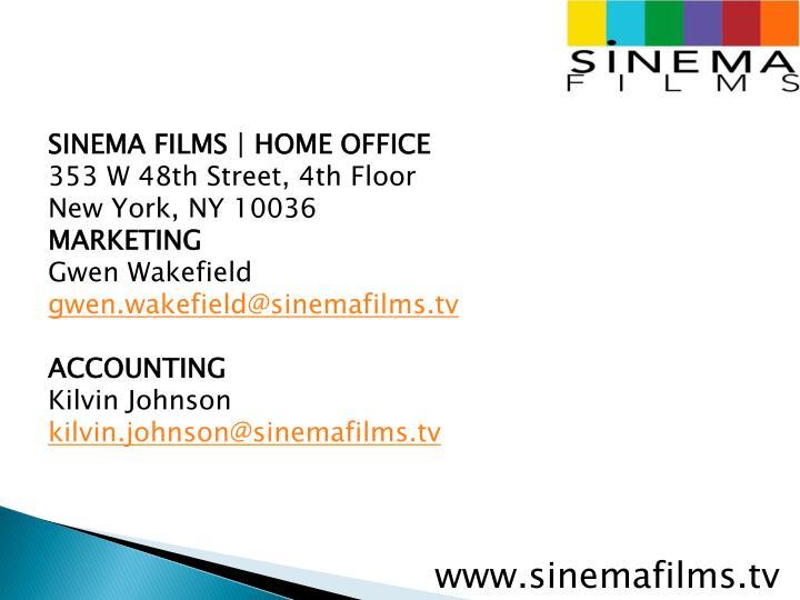 SINEMA FILMS | HOME OFFICE