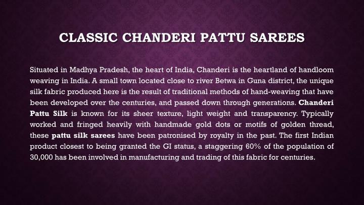 Classic chanderi pattu sarees