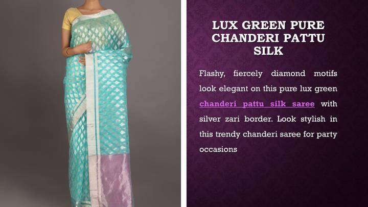 Lux Green Pure Chanderi