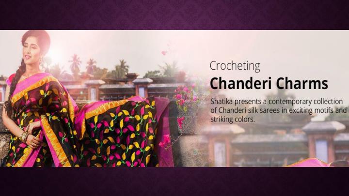 Exclusive chanderi pattu silk sarees online