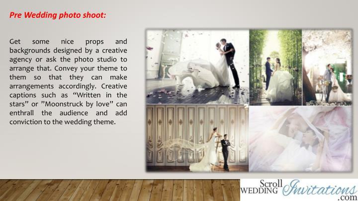 Pre Wedding photo shoot: