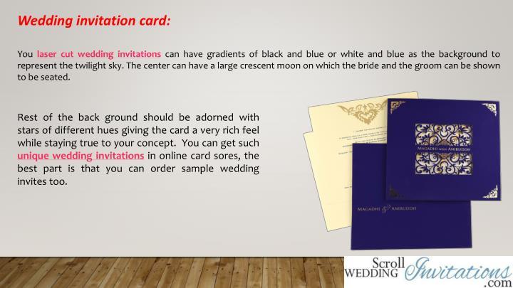 Wedding invitation card: