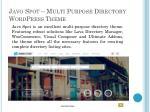 javo spot multi purpose directory wordpress theme