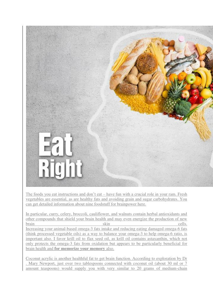 The foods you eat instructions and don't eat –