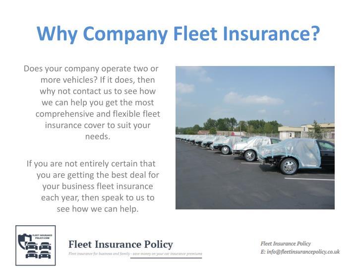 Why company fleet insurance