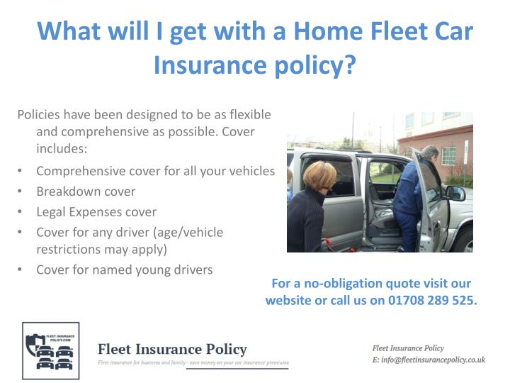What will i get with a home fleet car insurance policy