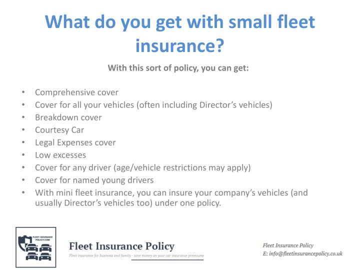 What do you get with small fleet insurance