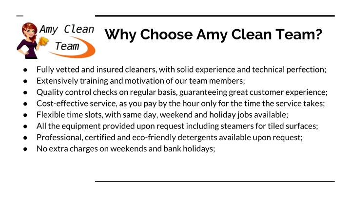 Why Choose Amy Clean Team?