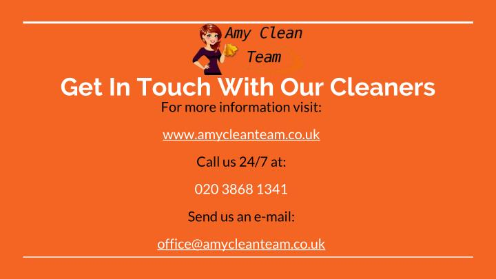 Get In Touch With Our Cleaners