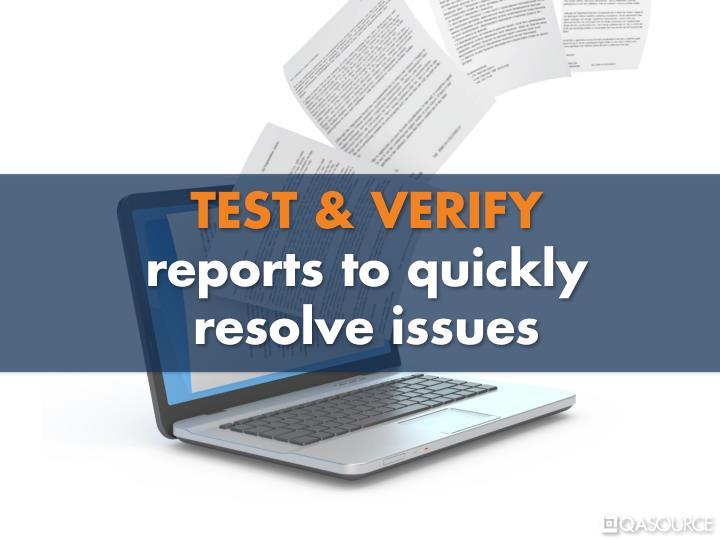 TEST & VERIFY
