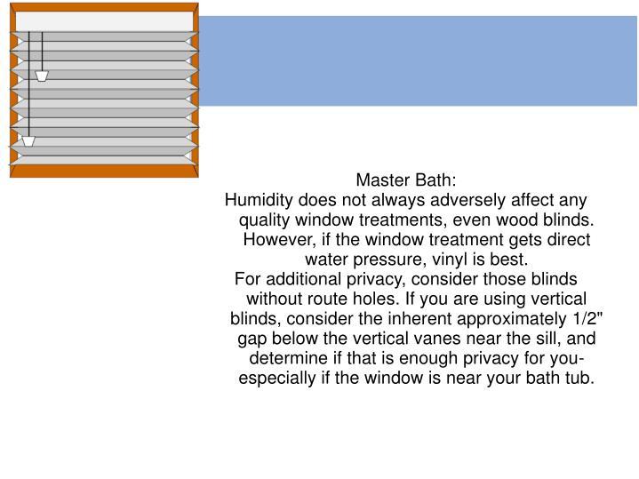 Master Bath: