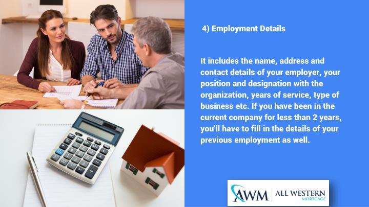 4) Employment Details
