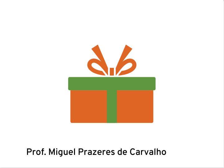 Prof. Miguel Prazeres de Carvalho