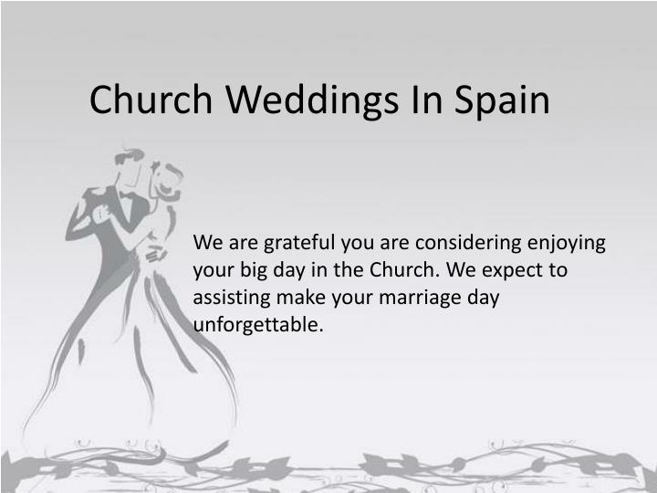 Church Weddings In Spain