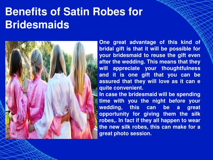 Benefits of Satin Robes for Bridesmaids