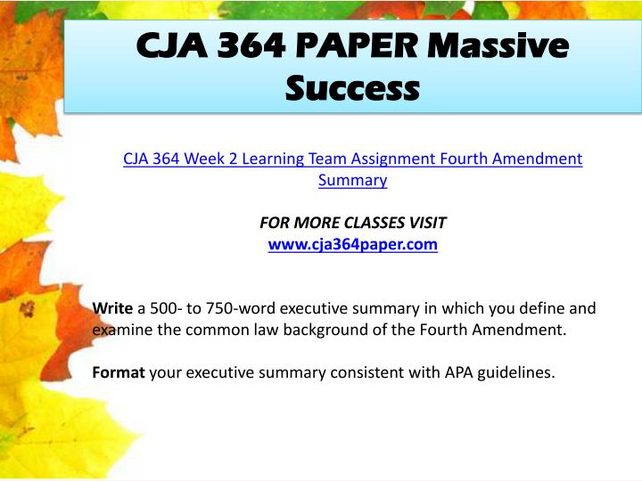 CJA 364 PAPER Massive Success