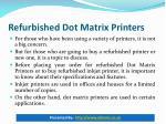 refurbished dot matrix printers