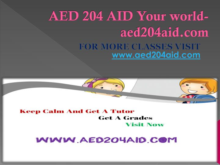 Aed 204 aid your world aed204aid com