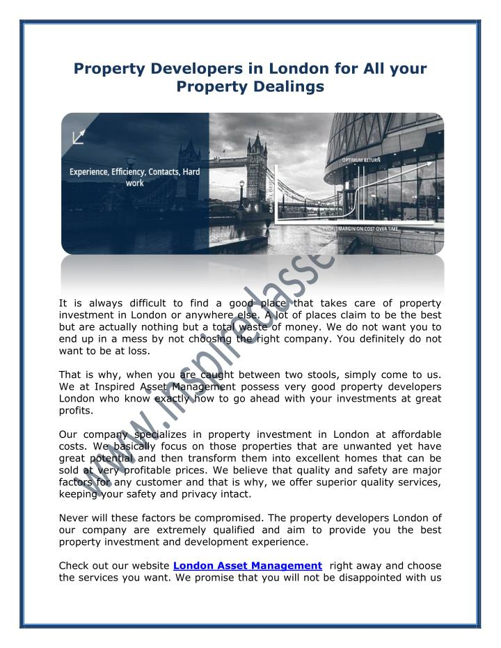 Property Developers in London for All your