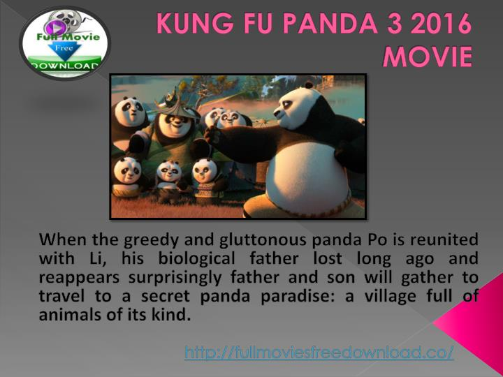 Kung fu panda 3 2016 movie