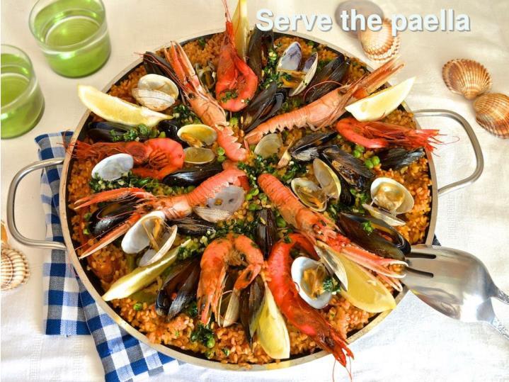 Serve the paella