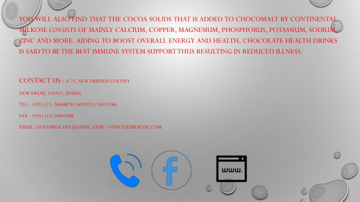 You will also find that the cocoa solids that is added to