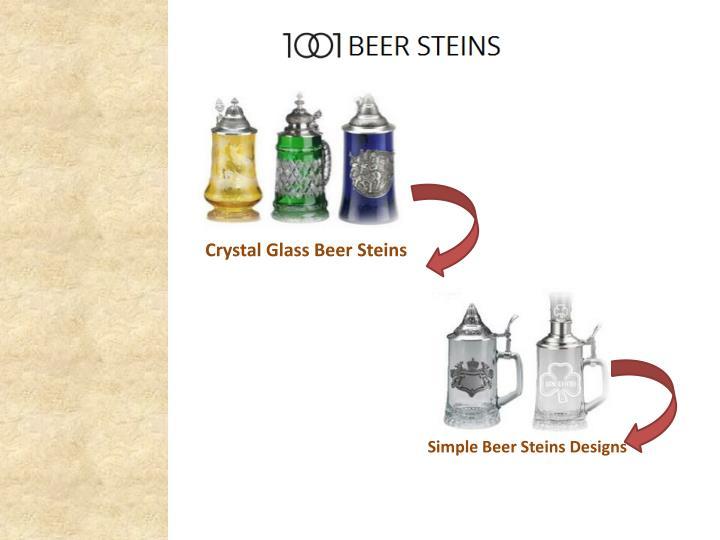 Crystal Glass Beer Steins
