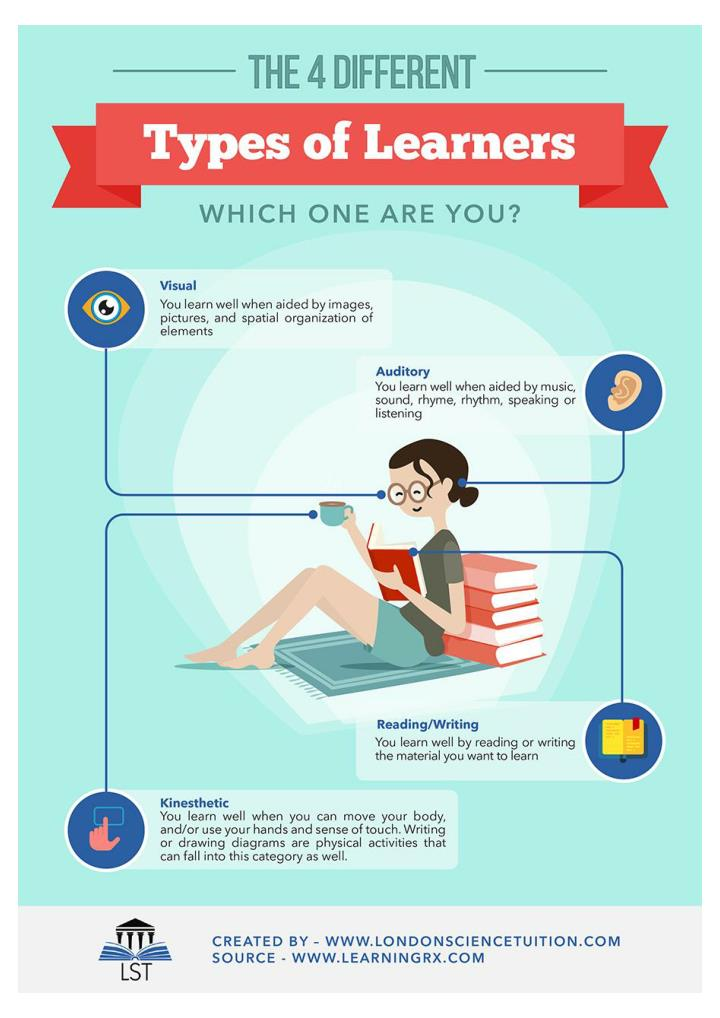 The 4 different types of learners which one are you