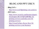 blog and ppt url s