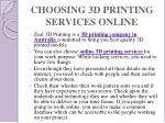 choosing 3d printing services online