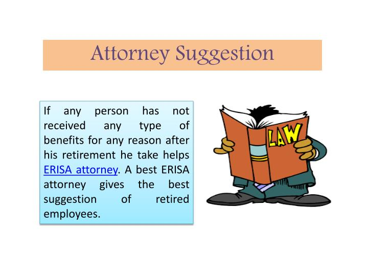 Attorney suggestion