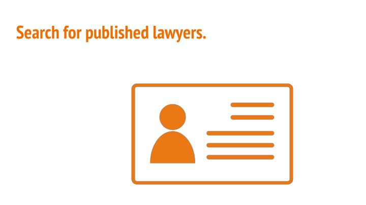 Search for published lawyers.
