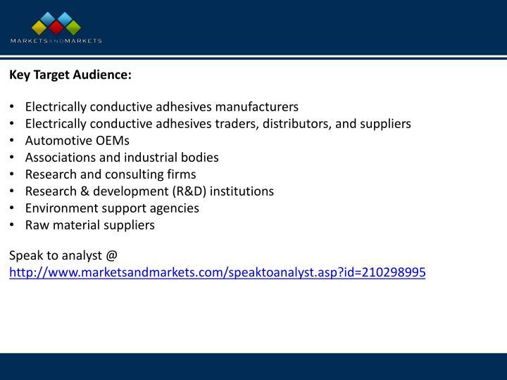 Key Target Audience
