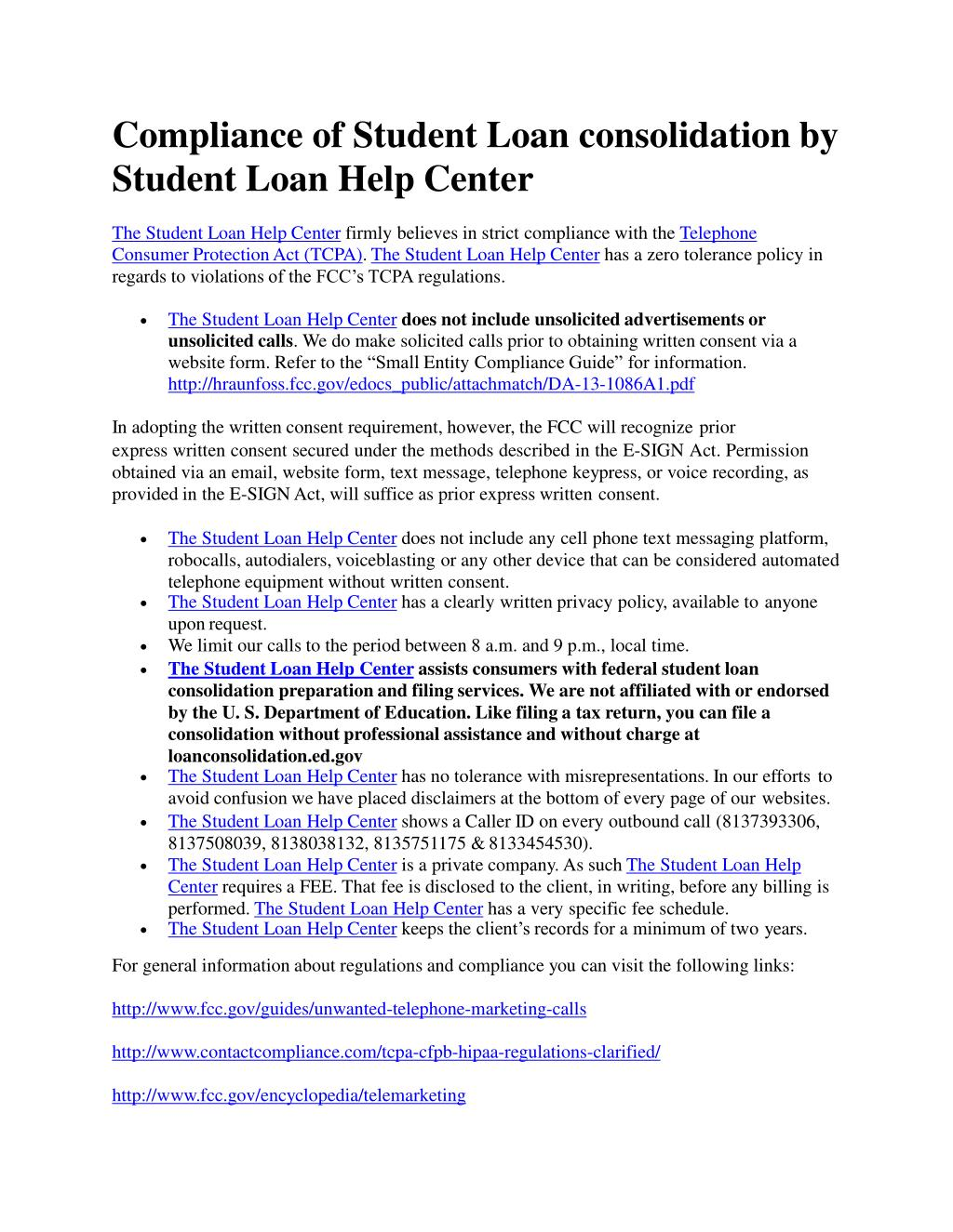 ppt - compliance of student loan consolidation by the student loan