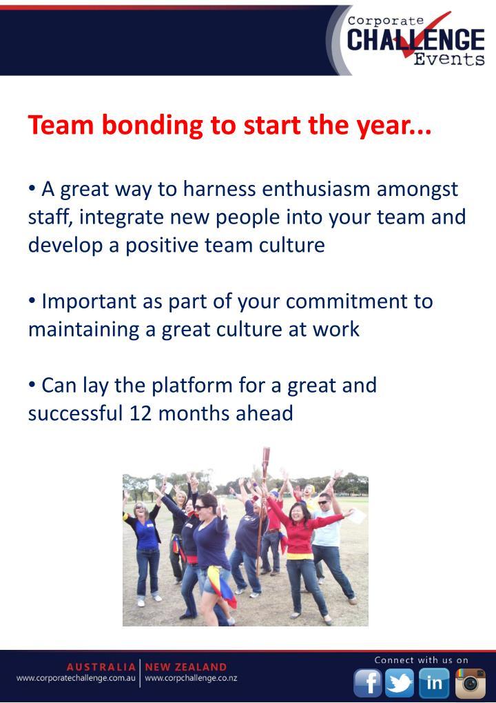 Team bonding to start the year...
