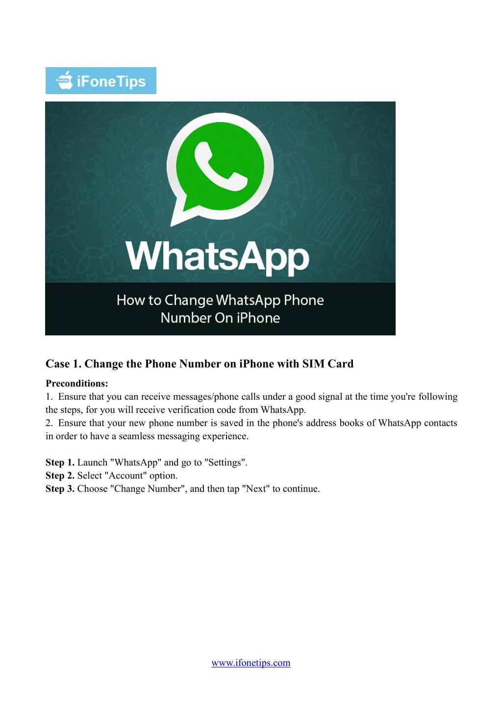 PPT - How Can I Change the Phone Number of WhatsApp on