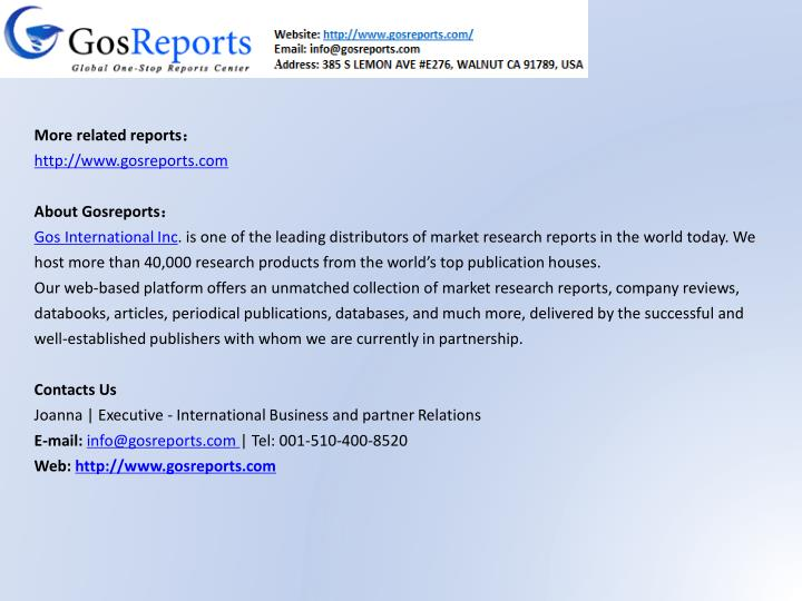 More related reports: