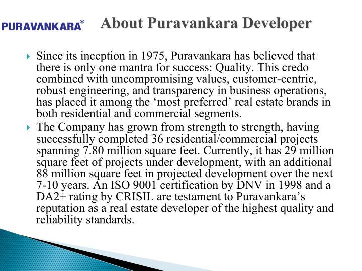 About Puravankara Developer