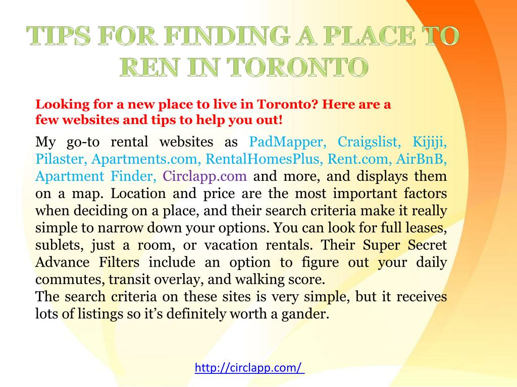 PPT - Tips on how to find homes and Apartments for rent in ...