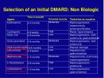 selection of an initial dmard non biologic