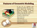 features of geometric modeling