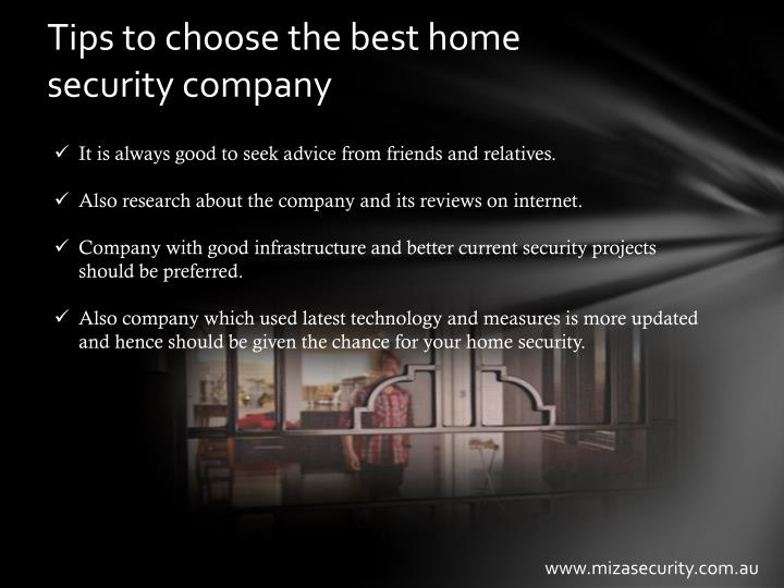 Tips to choose the best home security company