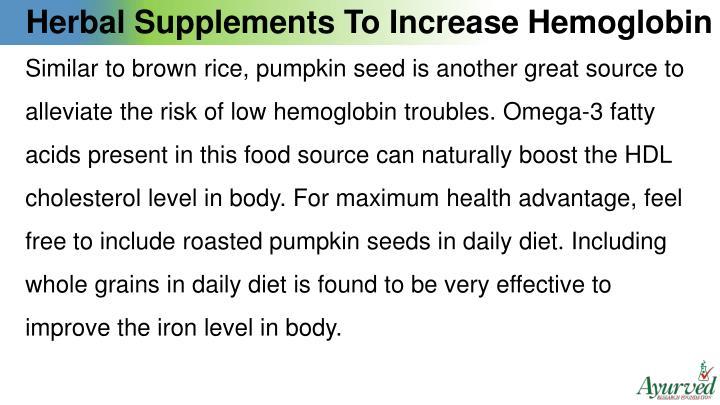 Herbal Supplements To Increase Hemoglobin
