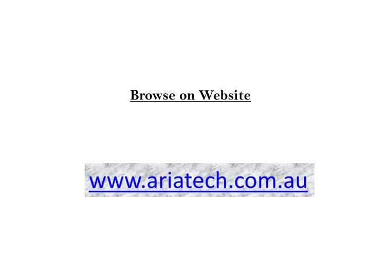 Browse on Website