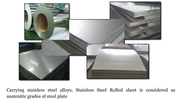 Carrying stainless steel alloys, Stainless Steel Rolled sheet is considered as austenitic grades of steel plate