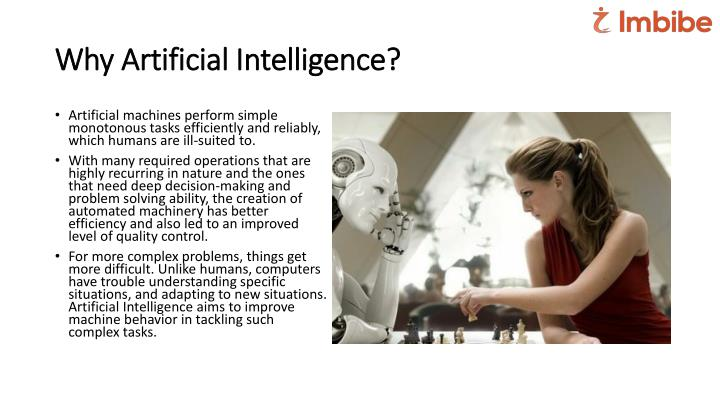 Why Artificial Intelligence?