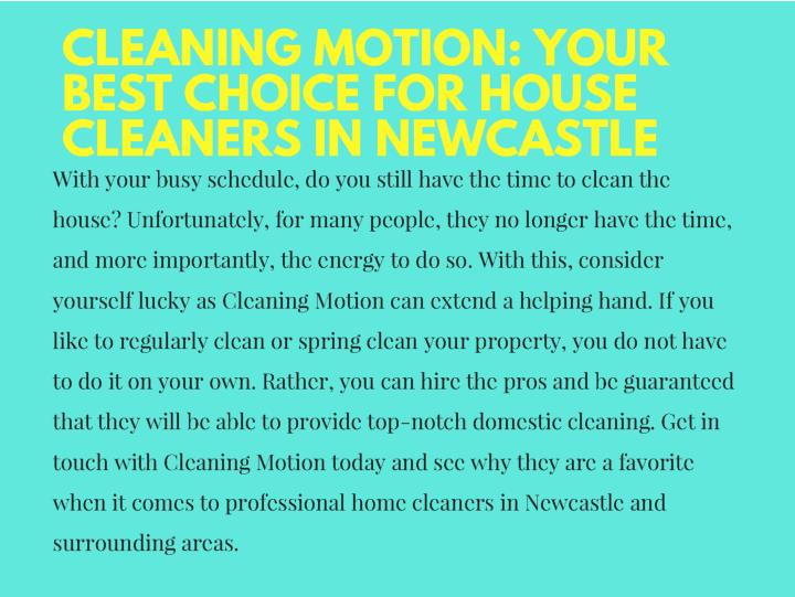 Cleaners newcastle